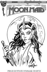 [Moon Maid: Fear On Four Worlds #1 (Hasson Sketch Cover) (Product Image)]