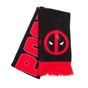 [Deadpool: Scarf: Classic Logo & Big Face (Product Image)]
