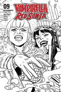 [Vampirella/Red Sonja #9 (40 Copy Romero Black & White Incentive) (Product Image)]