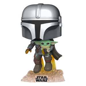 [Star Wars: The Mandalorian: Funko Pop! Bobble-Head: Flying Mandalorian With Jetpck (Product Image)]