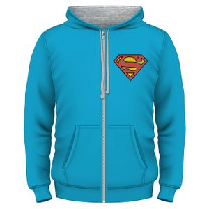 [Superman: Zipped Hoodie: Superman Logo (Product Image)]