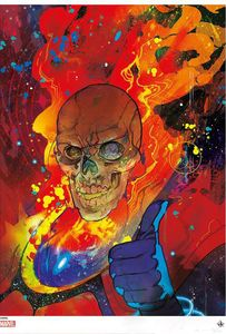 [Marvel: Colour Giclee Print: Cosmic Ghost Rider by Christian Ward (Signed Limited Edition) (Product Image)]