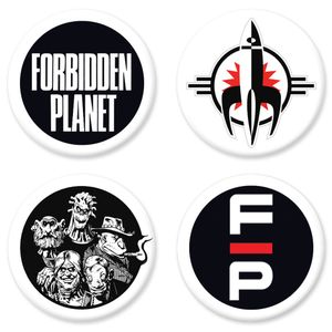 [Forbidden Planet: 25mm Pin Badge (Set Of 4) (Product Image)]