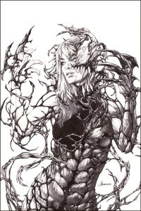 [Symbiote Spider-Man #1 (Anacleto 'Carnage Queen' Sketch Variant) (Product Image)]