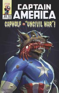 [Captain America #24 (Andolfo Cap Wolf Horror Variant) (Product Image)]
