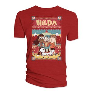 [Hilda: T-Shirt: Hilda & Friends (Red) (Product Image)]