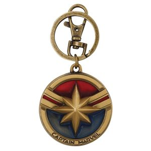 [Captain Marvel: Pewter Coloured Keychain: Logo (Product Image)]