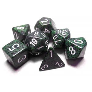 [Dice: Speckled Poly 7-Set: Recon Green (Product Image)]