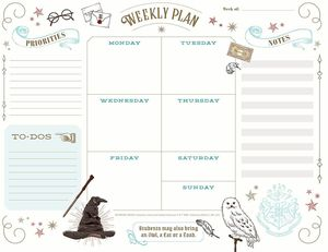 [Harry Potter: Weekly Planner Notepad (Hardcover) (Product Image)]