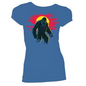 [Godzilla Vs Kong: Women's Fit T-Shirt: Neon King Kong (Product Image)]