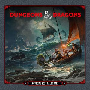 [Dungeons & Dragons: 2021 Square Calendar (Product Image)]