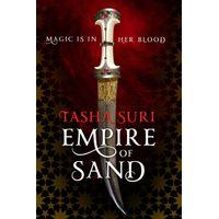 [Tasha Suri signing Empire of Sand (Product Image)]