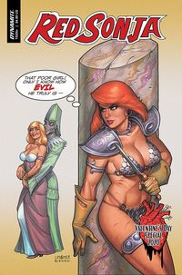 [The cover for Red Sonja: Valentines Special (One Shot) (Cover A Linsner)]