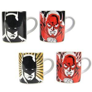 [Justice League: 2 Mini Heat Changing Mug Set: Batman & The Flash (Product Image)]