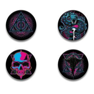 [Harry Potter: 38mm Badge Pack: Dark Arts Neons (Product Image)]