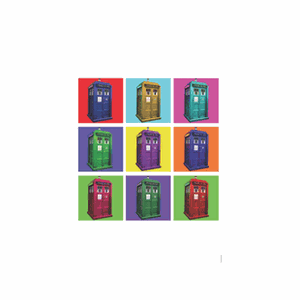 [Doctor Who: Greeting Card: Psychedelic TARDIS (Product Image)]