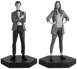 [Doctor Who: Figurine Collection: Companion Set #0:1: Eleventh Doctor & Amy Pond (Product Image)]