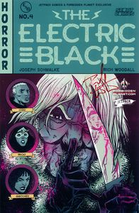 [Electric Black #4 (Forbidden Planet Exclusive Variant Signed Edition) (Product Image)]