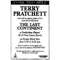 [Bristol Terry Pratchett signing The Last Continent (Product Image)]