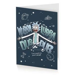 [Rick & Morty: Greetings Card: Wubba Lubba Dub Dub Folks (Product Image)]