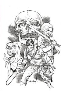 [Death To The Army Of Darkness #5 (Davila Black & White Variant) (Product Image)]
