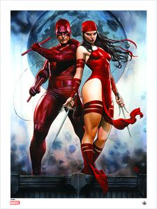 [Marvel Comics: Giclee Print: Daredevil & Elektra By Adi Granov (Red Costume Variant) (Product Image)]