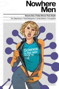 [Nowhere Men: Volume 1: Fates Worse Than Death (New Printing) (Teal Shirt Variant) (Product Image)]