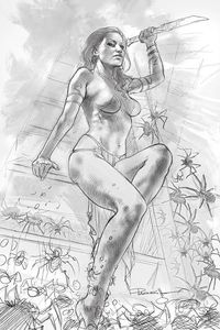[Dejah Thoris: 2019 #4 (Parrillo Black & White Virgin Variant) (Product Image)]