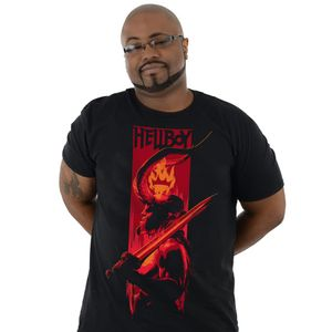 [Hellboy: T-Shirt: Fireside Profile (Product Image)]