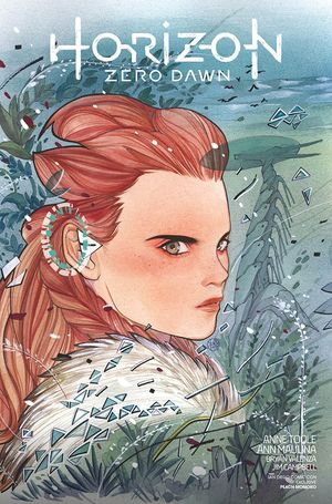 [The cover for Horizon Zero Dawn #1 (Peach Momoko SDCC Connecting Variant)]