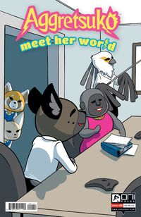 [The cover for Aggretsuko: Meet Her World #1 (Cover A Mcdonald)]
