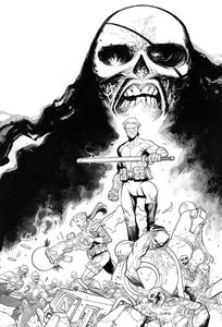 [Skybound X #2 (Cover F Black & White Rathburn Variant) (Product Image)]