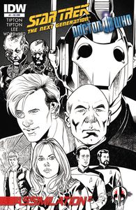 [Star Trek: The Next Generation/Doctor Who #1 (Forbidden Planet Variant) (Product Image)]
