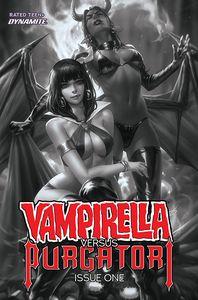 [Vampirella Vs Purgatori #1 (Chew Black & White Variant) (Product Image)]