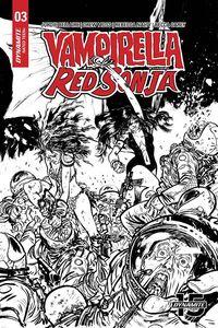 [Vampirella Red Sonja #3 (50 Copy Johnson Black & White Variant) (Product Image)]