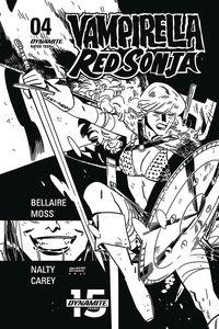 [Vampirella/Red Sonja #4 (Romero & Bellaire Black & White Variant) (Product Image)]