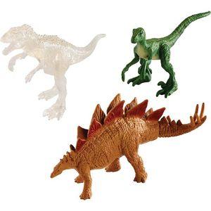 [Jurassic World: Fallen Kingdom: Dinomites Figure 3-Pack: Indominus Rex, Velociraptor & Stegosaurus (Product Image)]