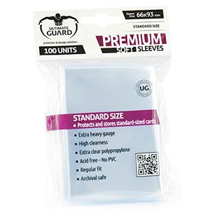 [Premium Soft Sleeves: Standard Size: Transparent (Product Image)]