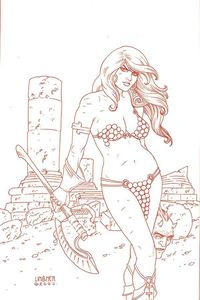 [Red Sonja #19 (Linsner Tint Virgin Variant) (Product Image)]