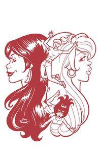 [Red Sonja & Vampirella Meet Betty & Veronica #10 (Parent red Tint Variant) (Product Image)]