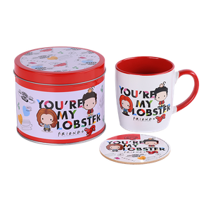 [Friends: Mug & Coaster Tin Gift Set: You're My Lobster (Chibi) (Product Image)]