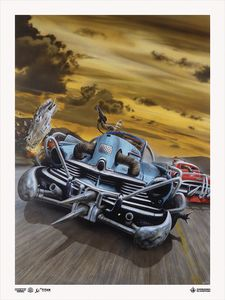 [Fighting Fantasy: Giclee Print: Freeway Fighter: Battle Cars (Signed & Numbered Limited Edition) (Product Image)]