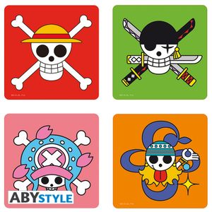 [One Piece: Set Of 4 Coasters: Skulls (Product Image)]