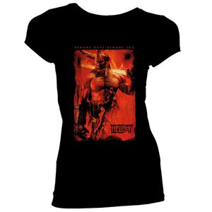 [Hellboy: Women's Fit T-Shirt: Fire & Brimstone (Product Image)]