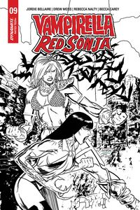 [Vampirella/Red Sonja #9 (Gedeon Black & White Homage Variant) (Product Image)]
