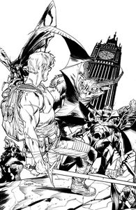 [Once & Future #19 (Cover B Mora Black & White Variant) (Product Image)]