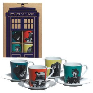 [Doctor Who: Espresso Mugs (Set Of 4) (Product Image)]
