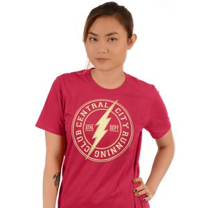 UNISEX Official DC Comics THE FLASH Central City Runing Club Logo T-Shirt