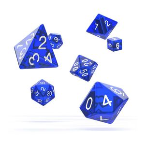 [Oakie Doakie Dice: RPG 7 Set: Translucent Blue (Product Image)]