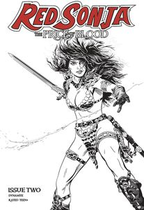 [Red Sonja: Price Of Blood #2 (Golden Black & White Variant) (Product Image)]